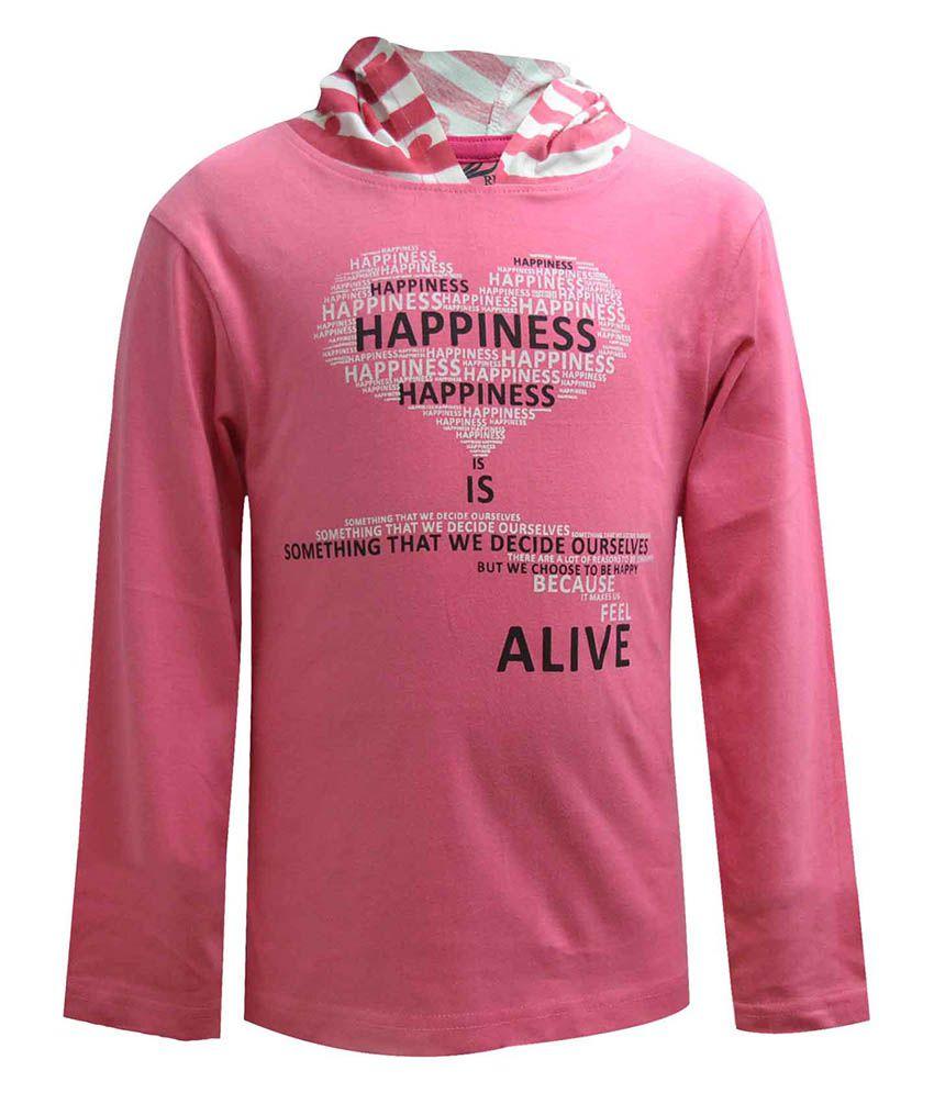 Blueriver Pink Hooded Sweatshirt For Girls