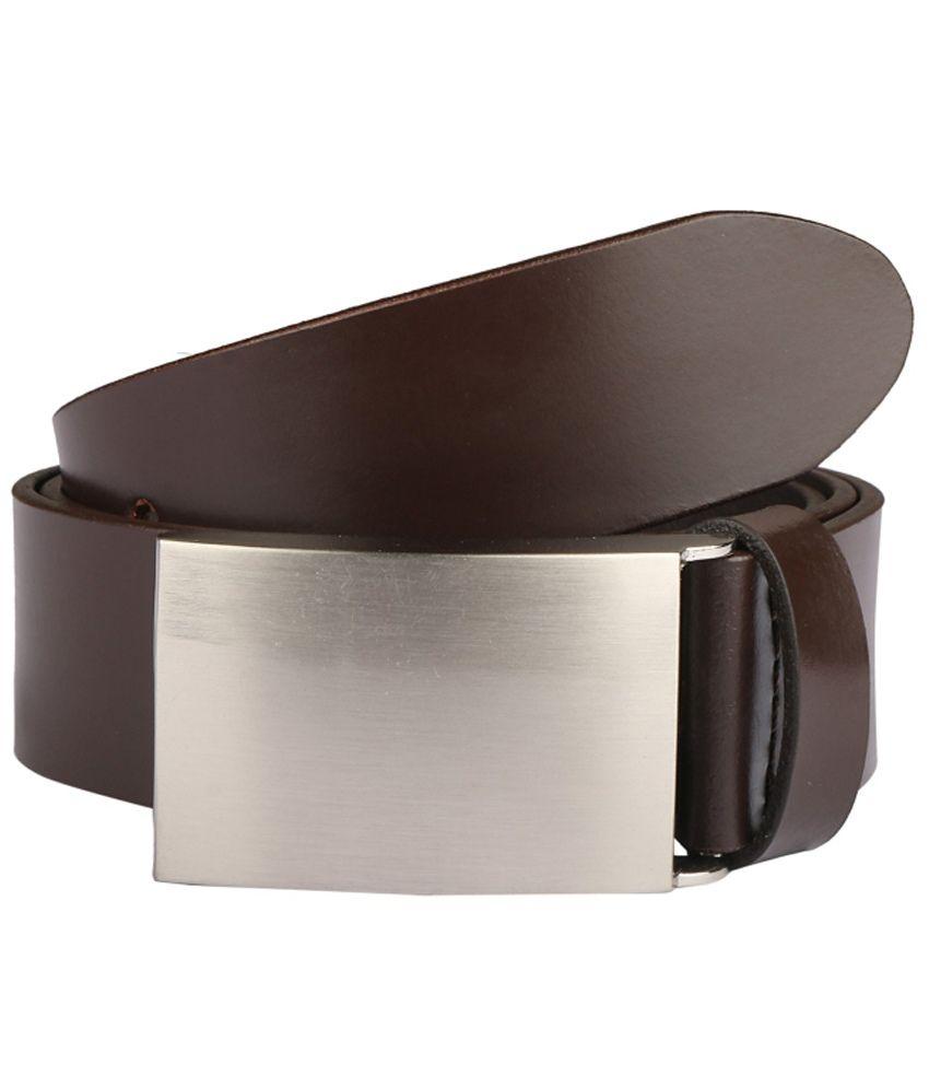 Paradigm Design Lab Brown Casual Single Belt For Men