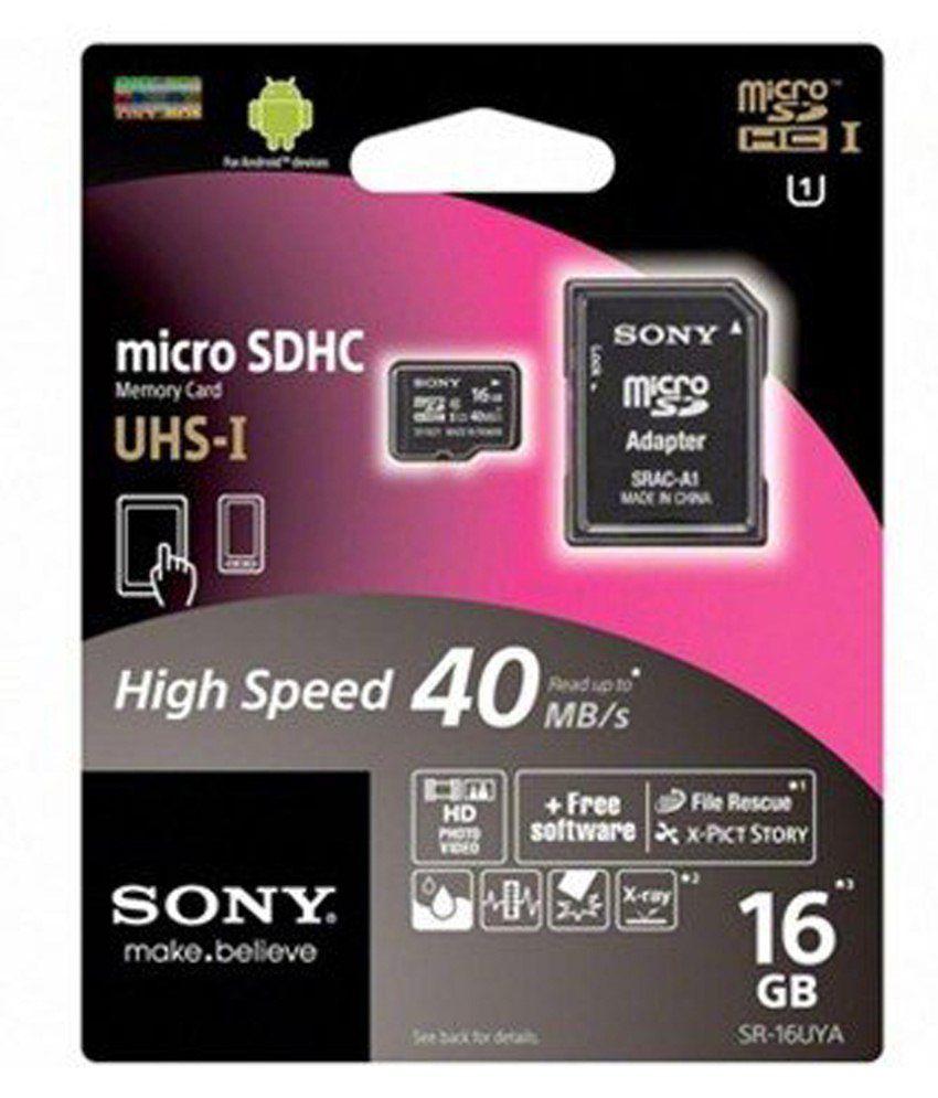Sony 16GB Class 10 Memory Card-Black