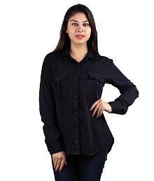 Lady Stark Black Poly Crepe Shirts