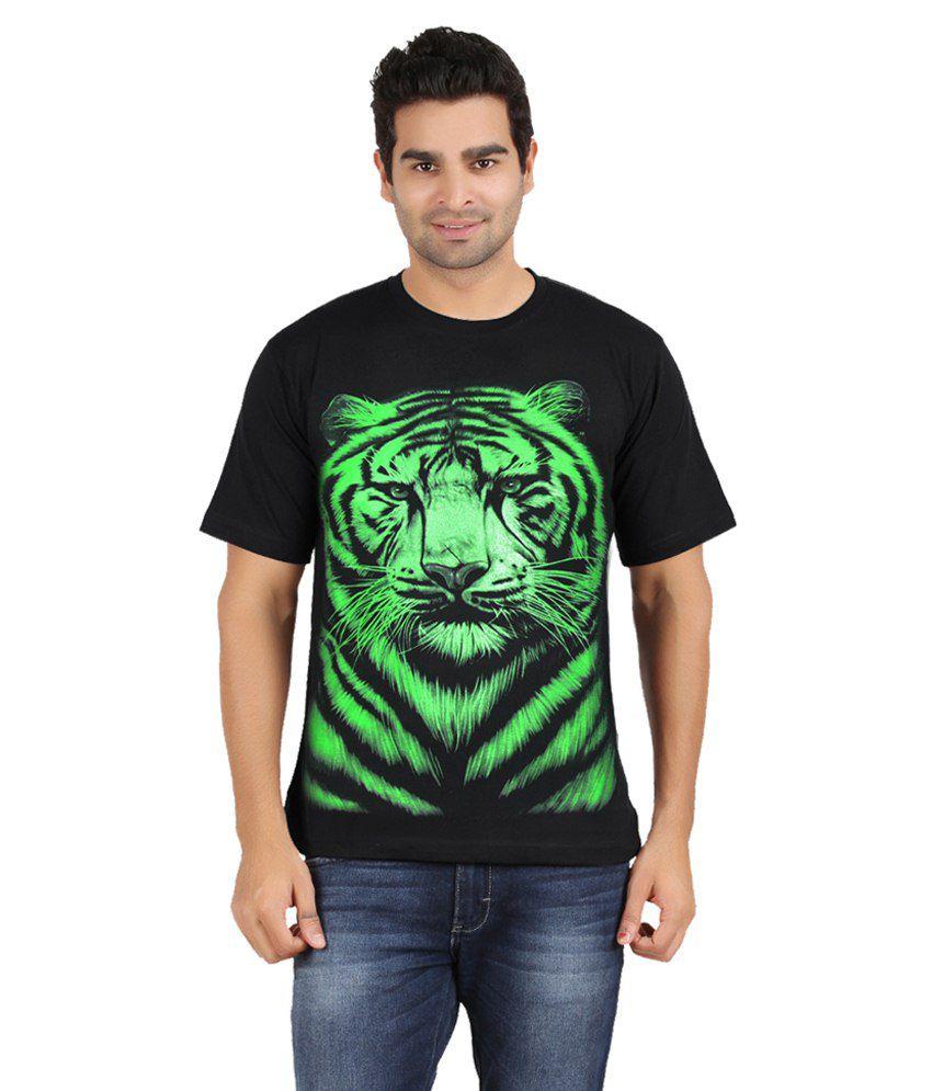 Avenster Black Cotton T-Shirt