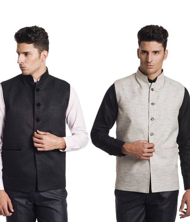Wintage Multicolor Rayon Waistcoats - Pack Of 2