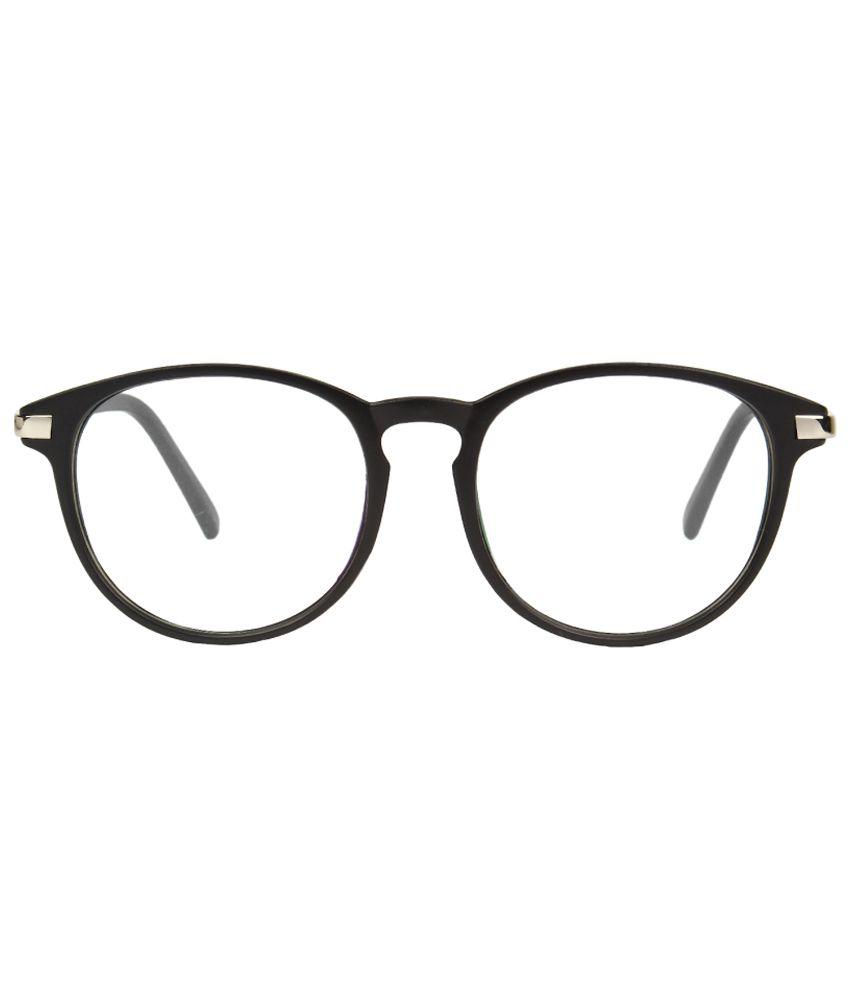Zyaden Black Full Rim Round Frame Eyeglasses - Buy Zyaden Black Full ...