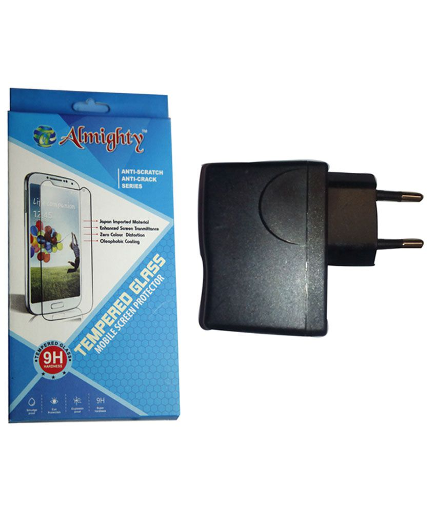 Hwawei Honor 4X Screen Guard with 2AMP USB Charger by Almighty