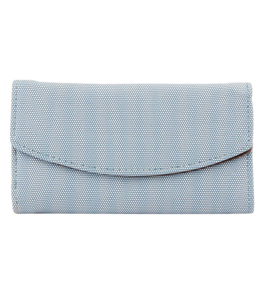 Louise & Harris Non Leather Blue Long Wallet For Women