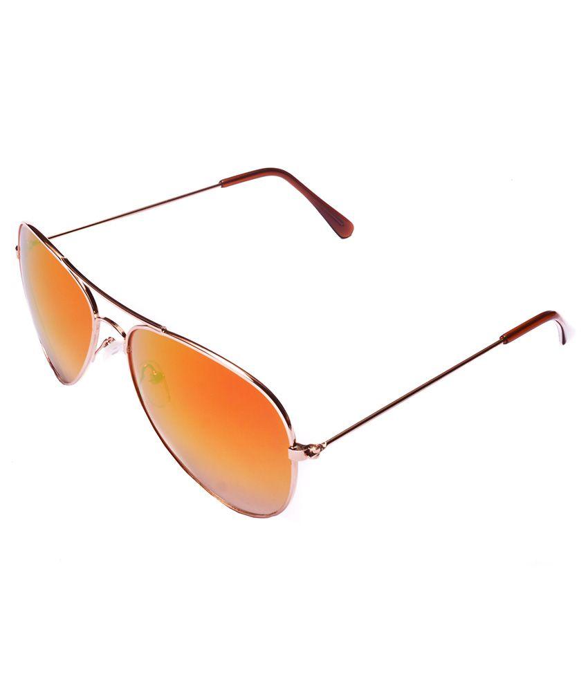 b60a9cd7e749 ... Lense Golden Frame Aviator Style Unisex Sunglasses - Buy Stylen Orange  Gradient Lense Golden Frame Aviator Style Unisex Sunglasses Online at Low  Price - ...