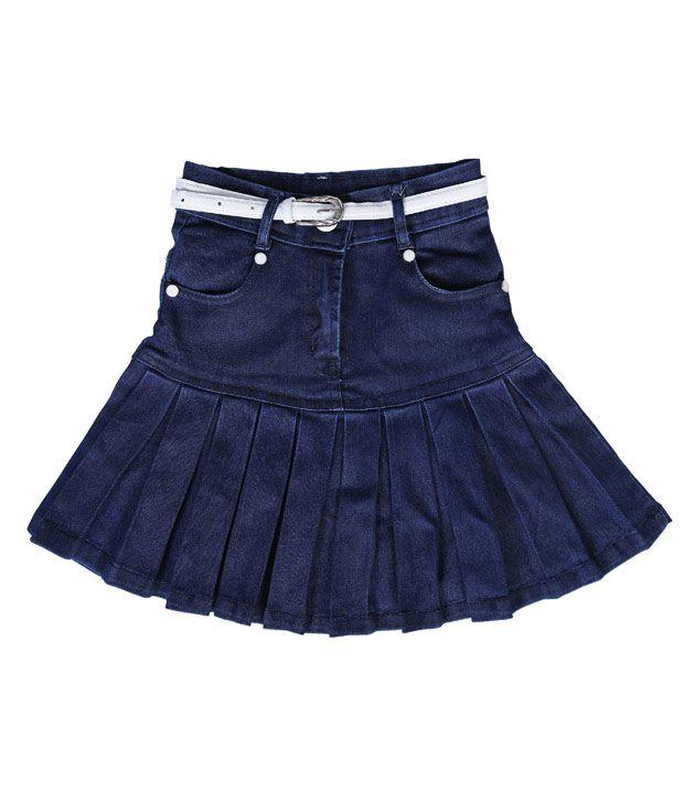 Mint Blue Skirt For Girls