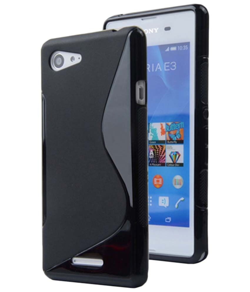 size 40 8024d d3f92 S Case Black Back Cover for Sony Xperia E3 Dual