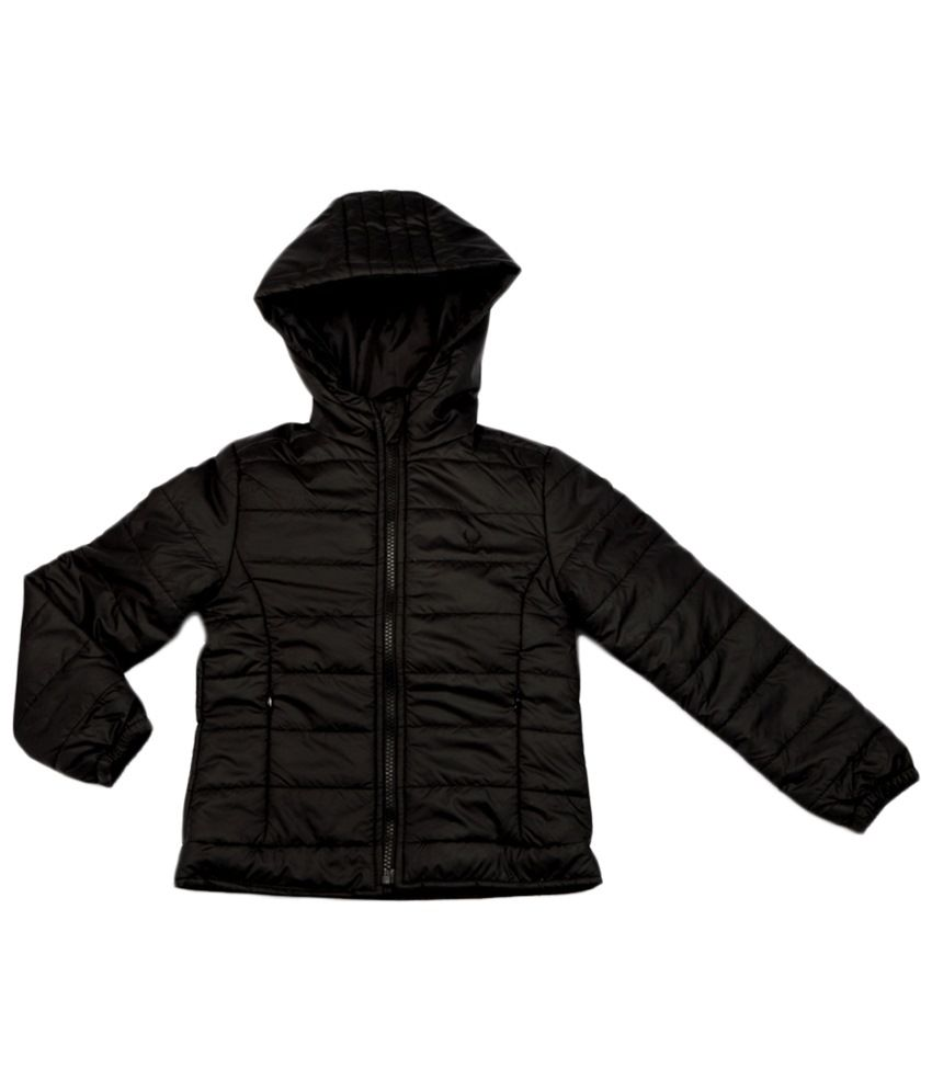 Allen Solly Black Full Sleeve Quilted Jacket