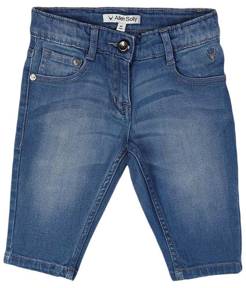 Allen Solly Blue Cotton Shorts