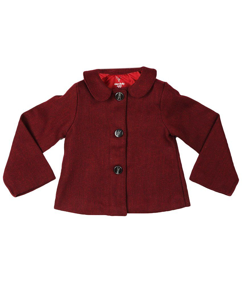 Allen Solly Maroon Full Sleeve Maroon