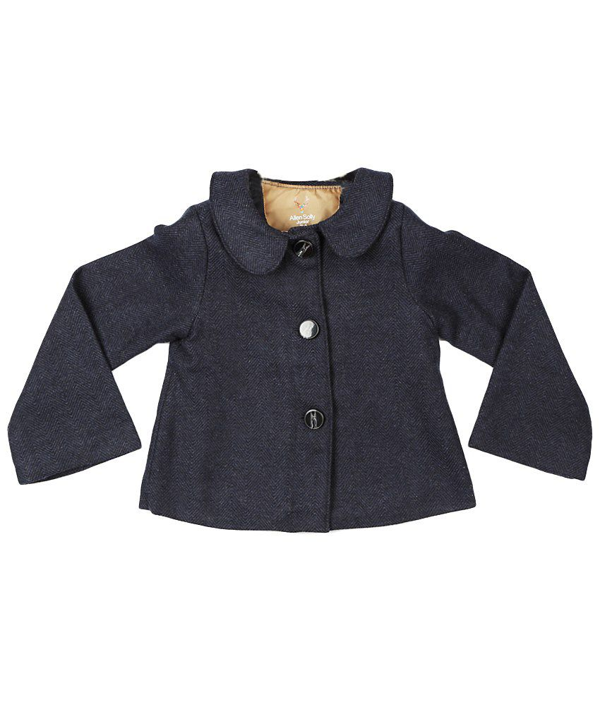 Allen Solly Navy Blue Full Sleeve Coat