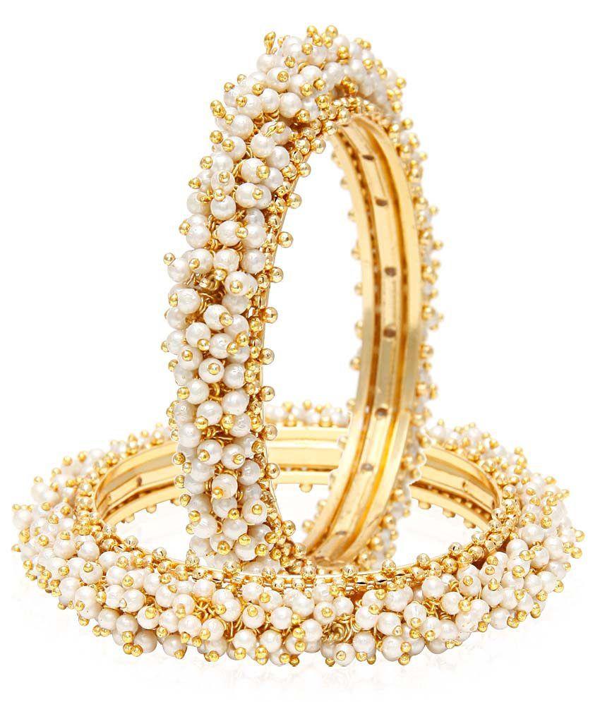 Jewels Galaxy Traditional Pearl Bangles - Set Of 2: Buy Jewels ...