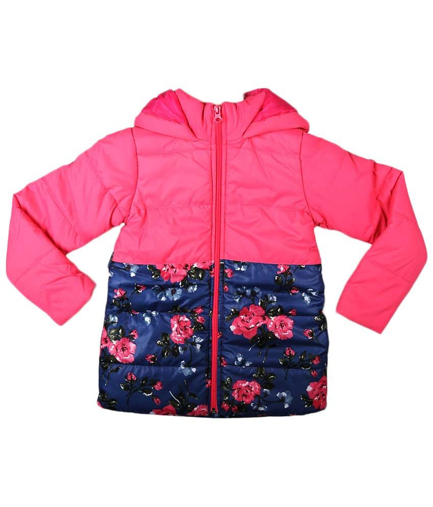 People Pink & Blue Full Sleeve Quilted Jacket