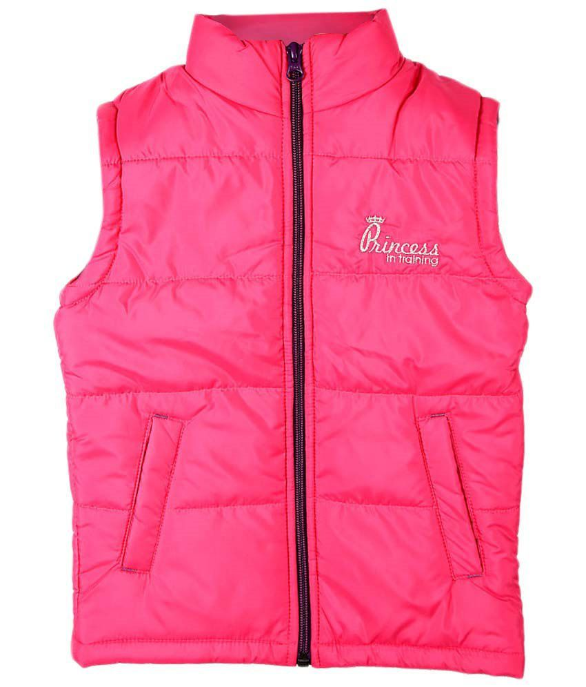 People Pink Sleeveless Quilted Jacket