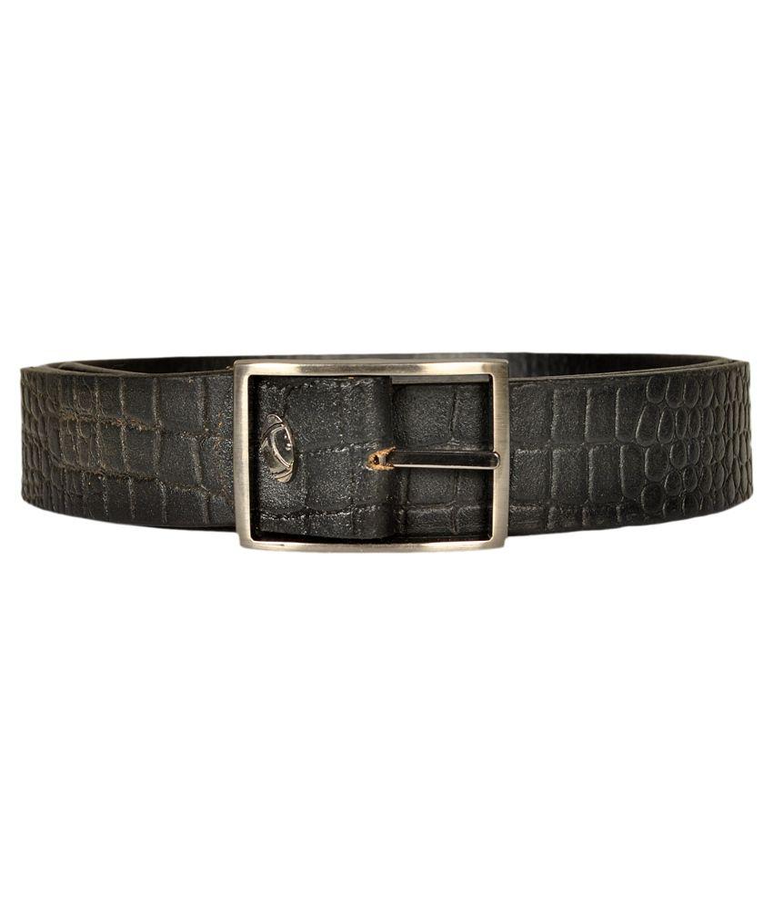 Blueway Black Leather Belt for Men