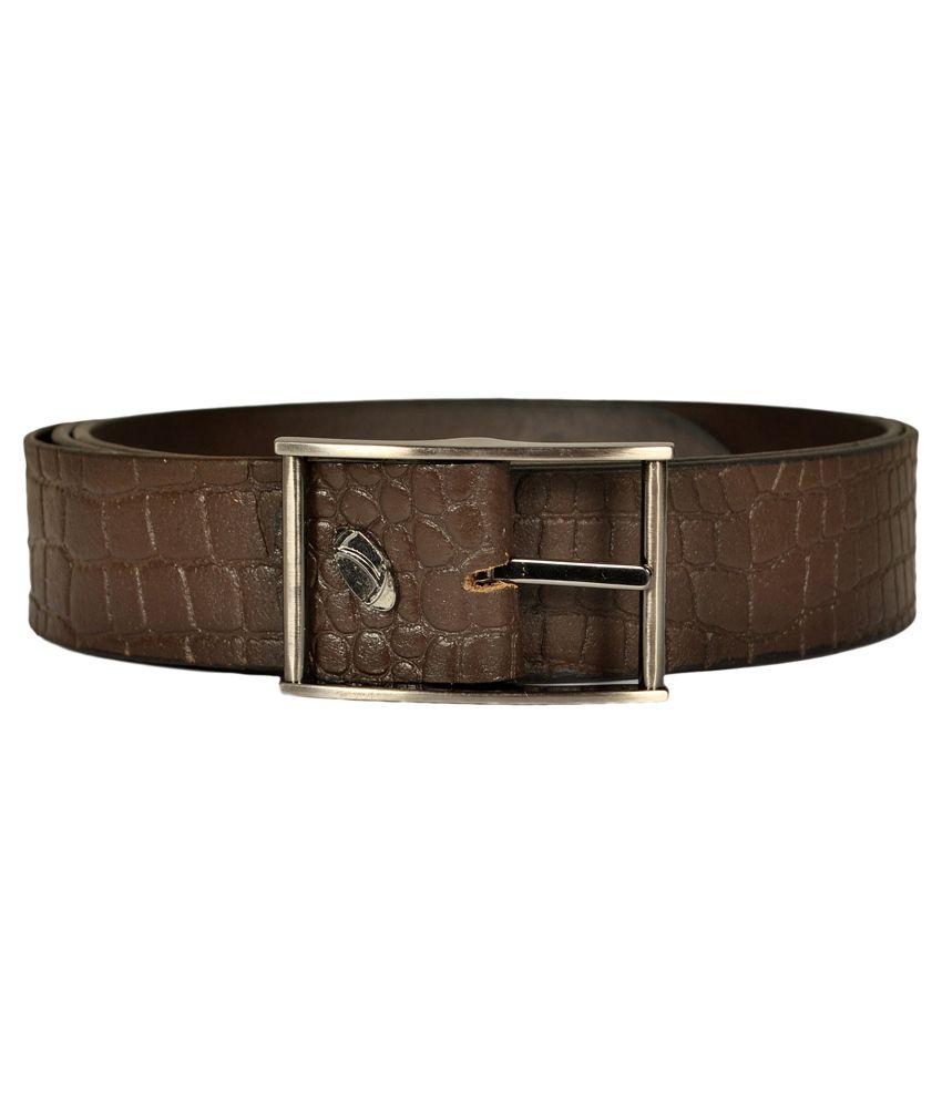 Blueway Brown Leather Belt for Men