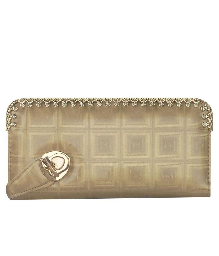 Eden Advertising Agency Golden Casual Wallet for Women