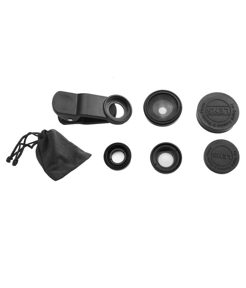 Memore Universal 3 in 1 Cell Phone Camera Lens Kit Black