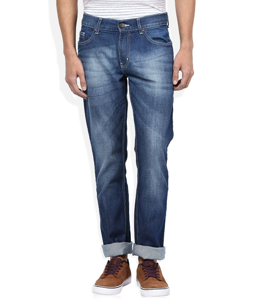 Newport Navy Medium Wash Slim Fit Jeans