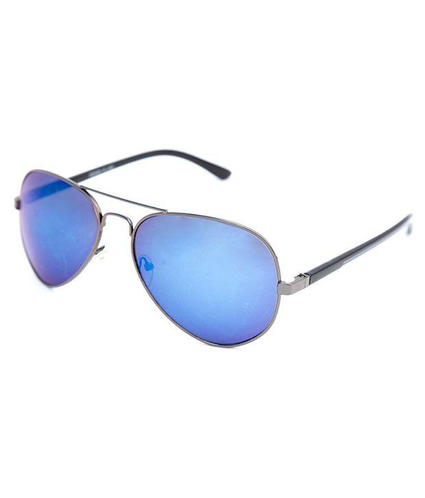 The Whoop Twma111 Blue Aviator Sunglasses