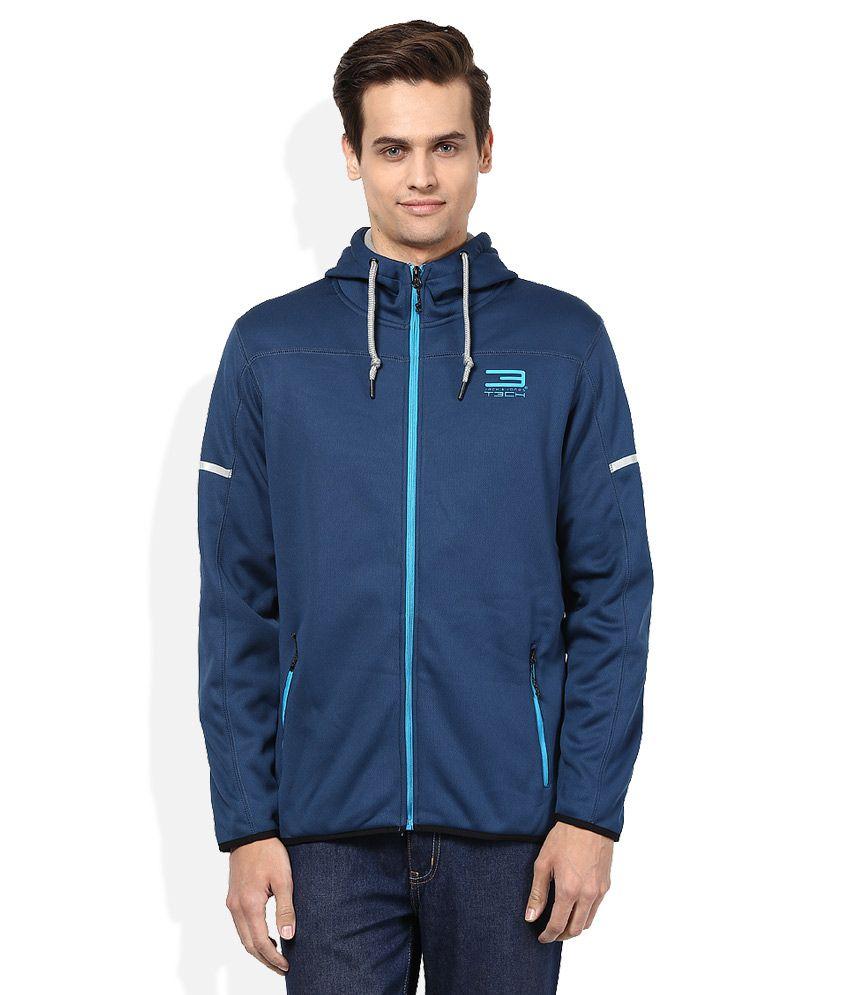 Jack & Jones Blue Hooded Sweatshirt