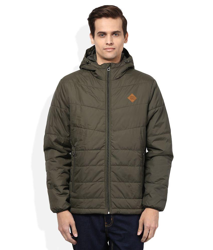 Jack & Jones Brown Full Sleeves Winter Jacket - Buy Jack