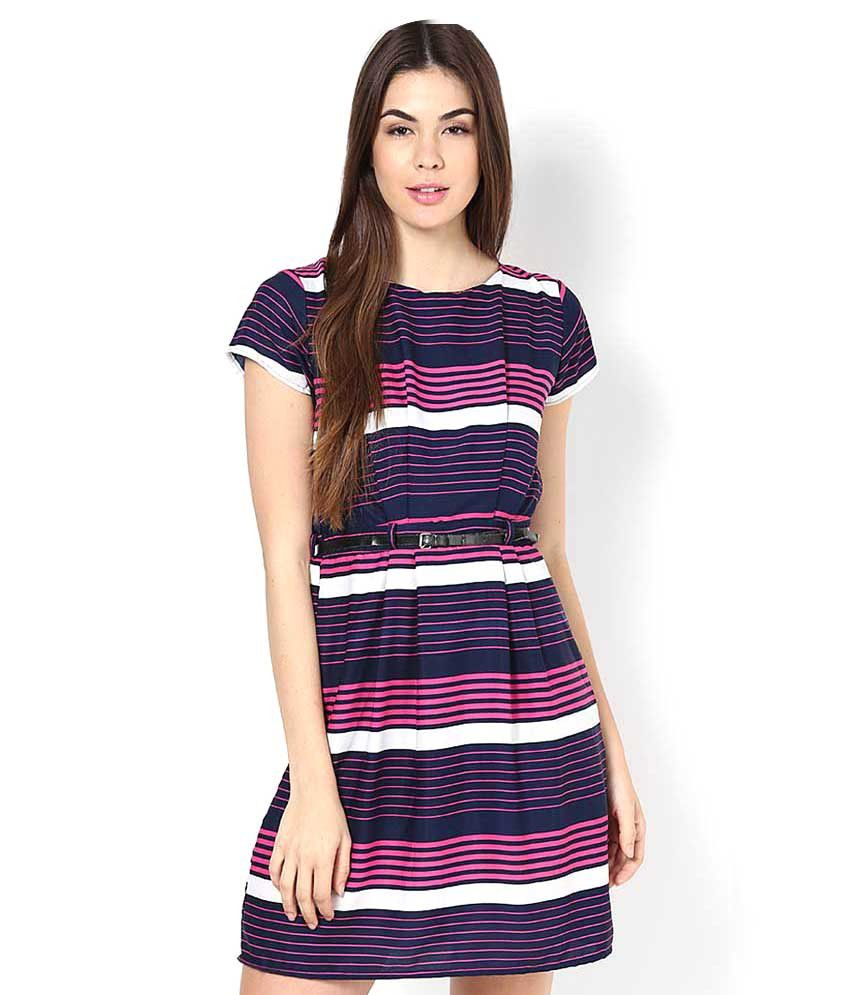 Upto 70% Off On Women's Clothing By Snapdeal | Mayra Purple Polyester Dresses @ Rs.565