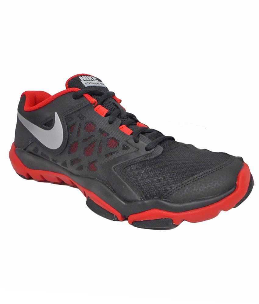 Nike Flex Supreme Tr 4 Black Sports Shoes Online At Best S In India On Snapdeal