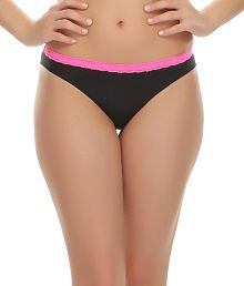 Clovia Trendy Bikini With Laces In Black