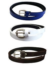 Verceys Multicolour Casual Belt For Men - Combo Of 3