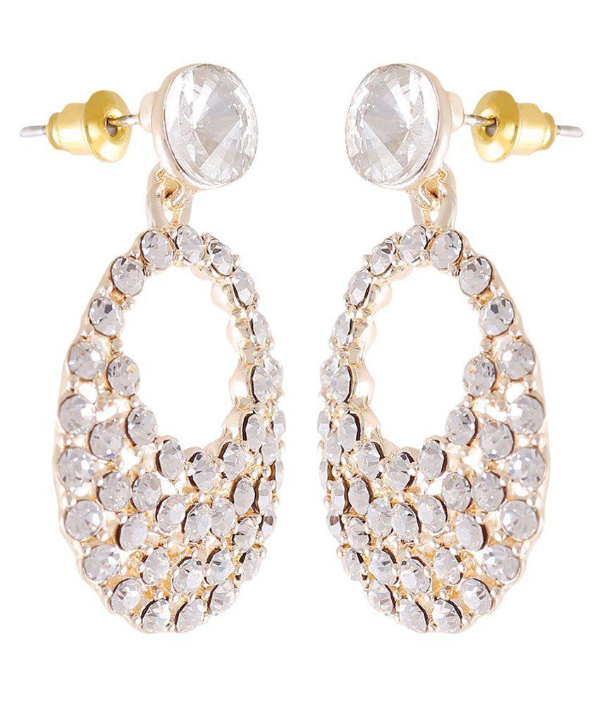 Catchme Golden Alloy Drop Earrings