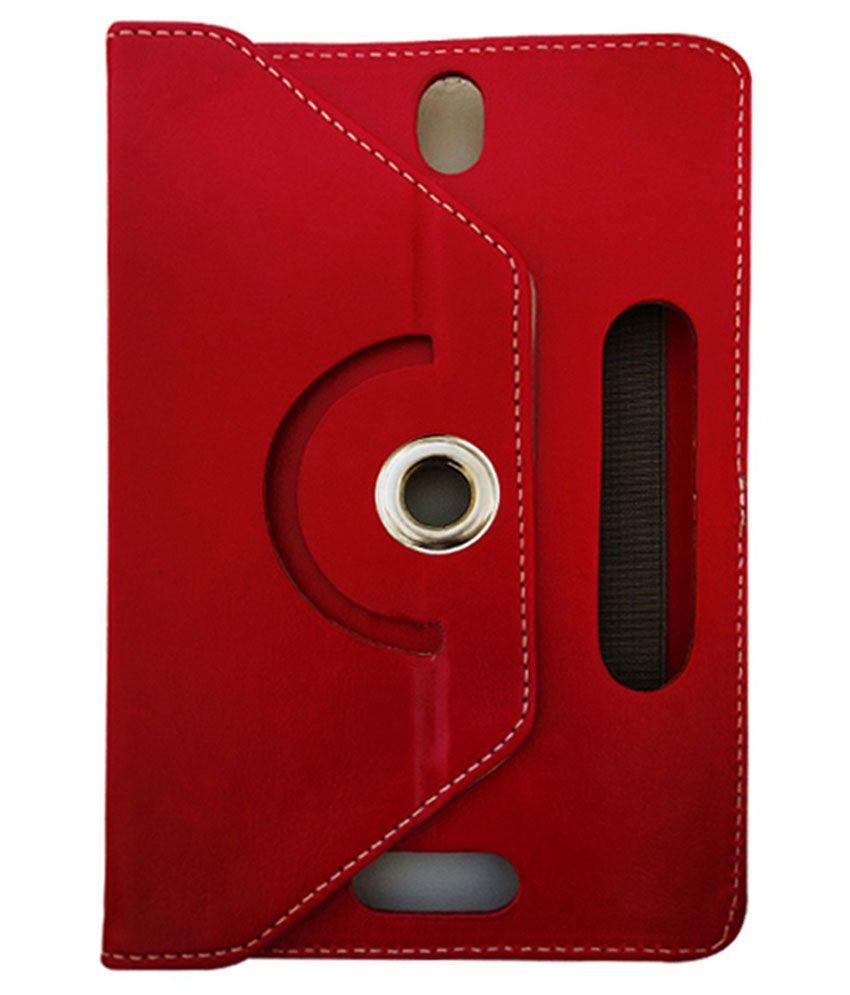 Fastway Flip Cover For Karbonn Smart Tab2 Tablet - Red