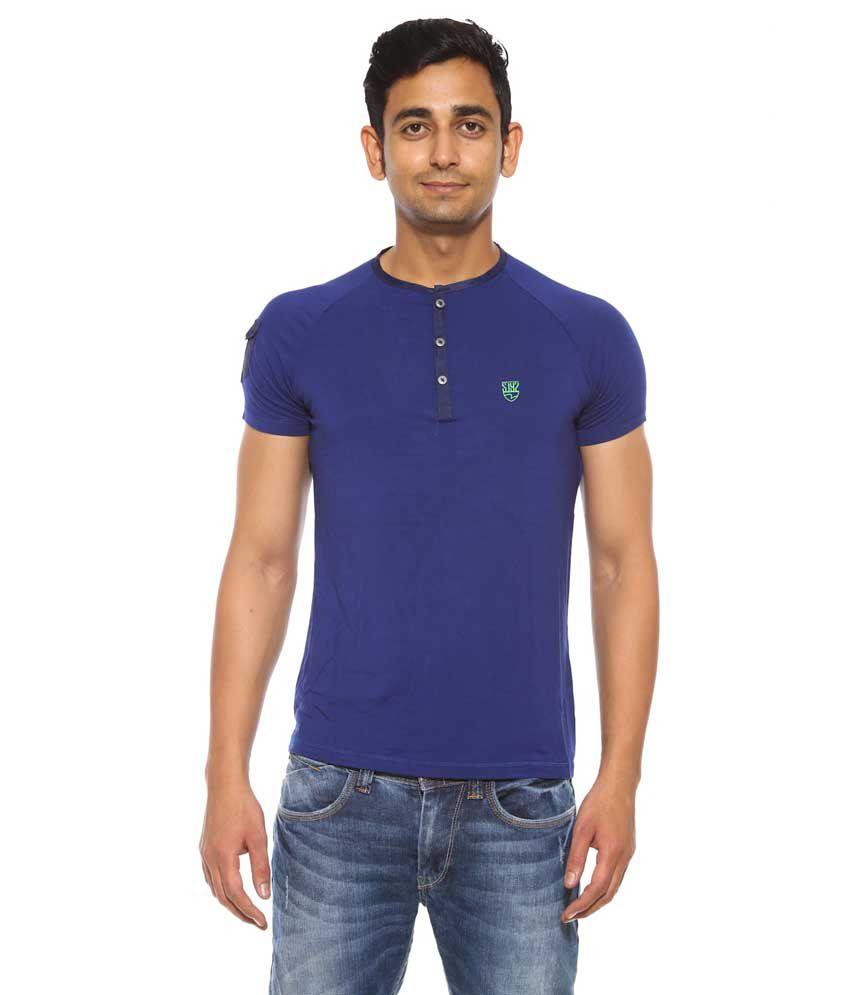 Spykar Blue Cotton T - Shirt