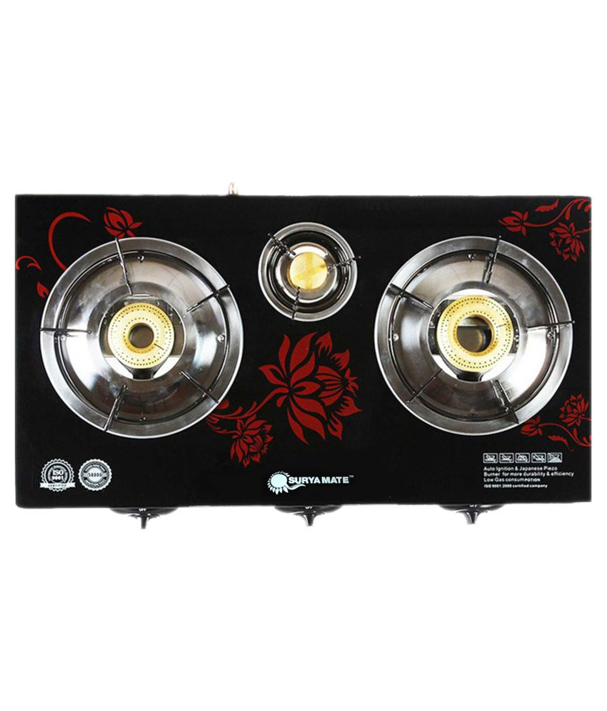 Surya-Honey-Mate-999-3-Burner-Auto-Ignition-Gas-Cooktop