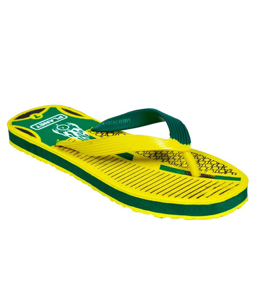 e250f6d50632c1 Mr. Polo Yellow Flip Flops Price in India