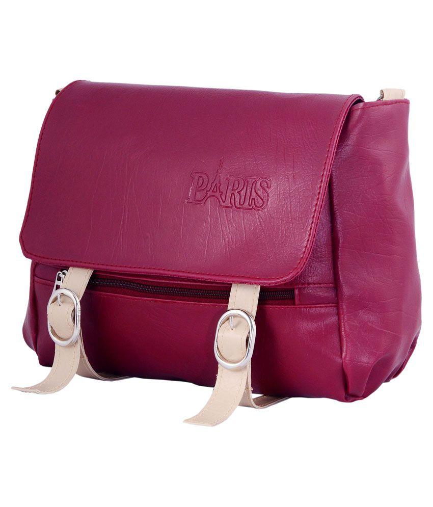 Paris Pink Classy Sling Bag - Buy Paris Pink Classy Sling Bag ...