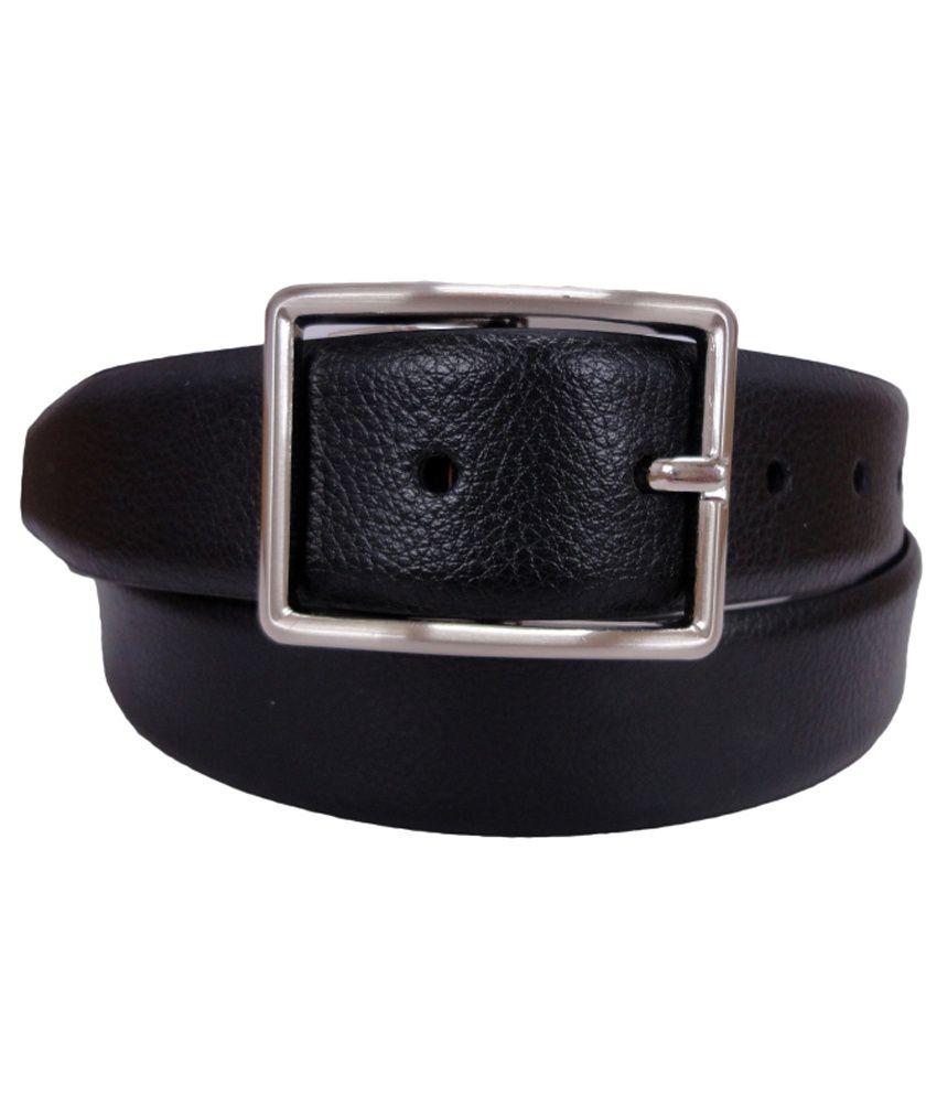 Revo Black Formal Reversible Belt For Men