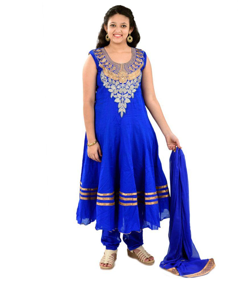 Saarah Blue Cotton