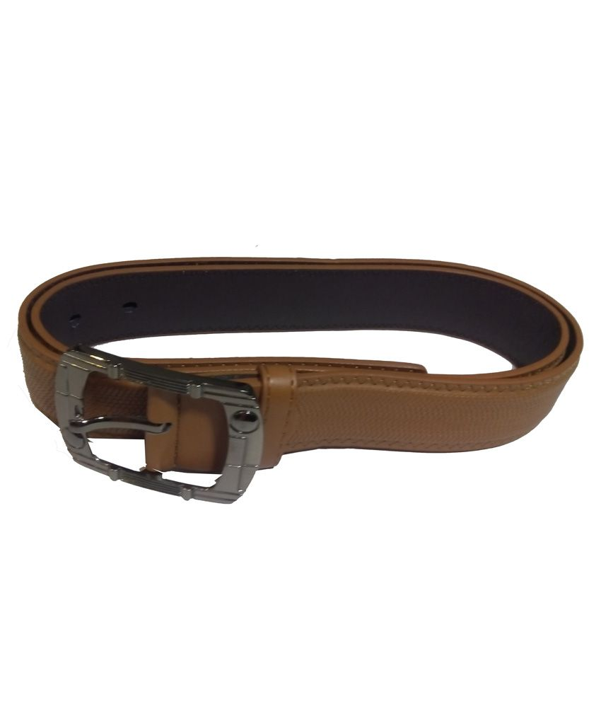 Attitude Works Tan Casual Belt For Men