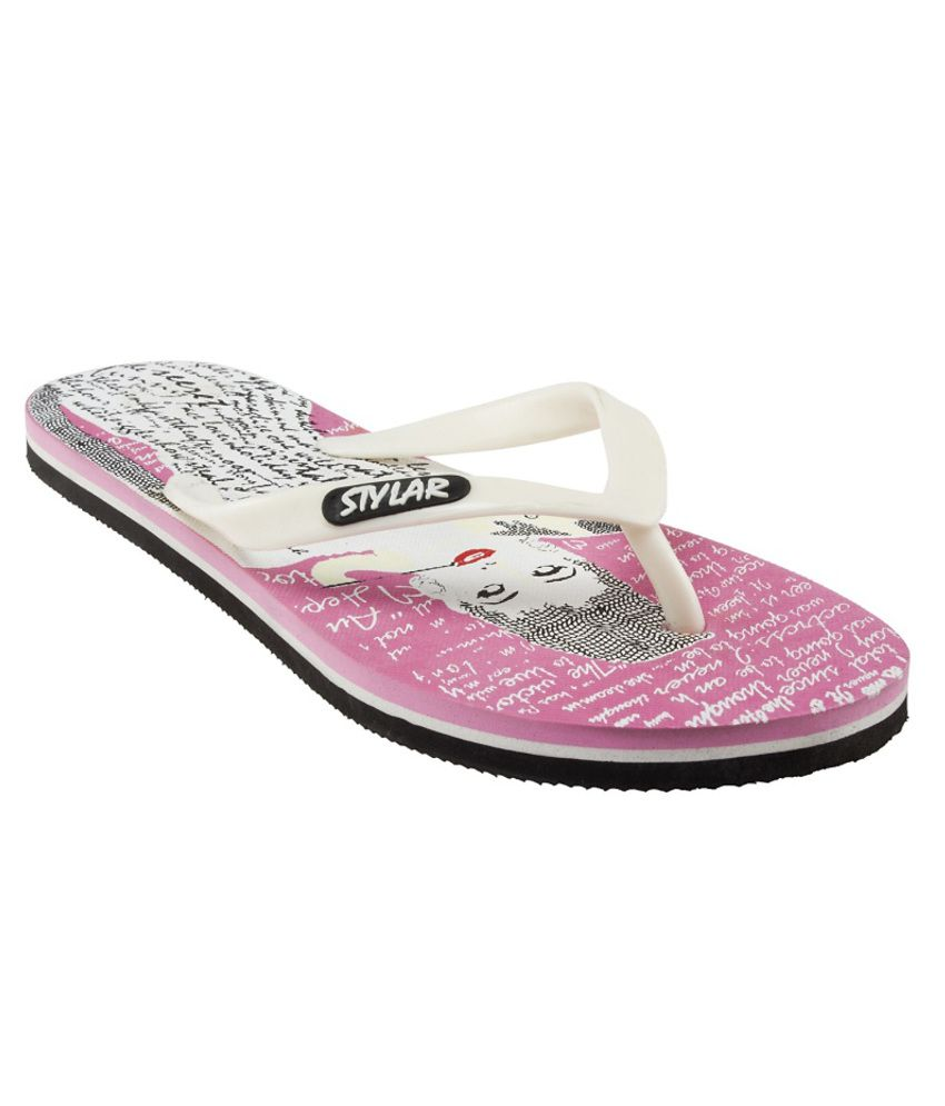 Stylar Lovely Pink Flip Flops