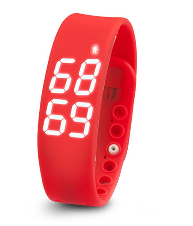 Bs Spy Multicolour Silicon Pedometers Fitness Band Pack Of 5