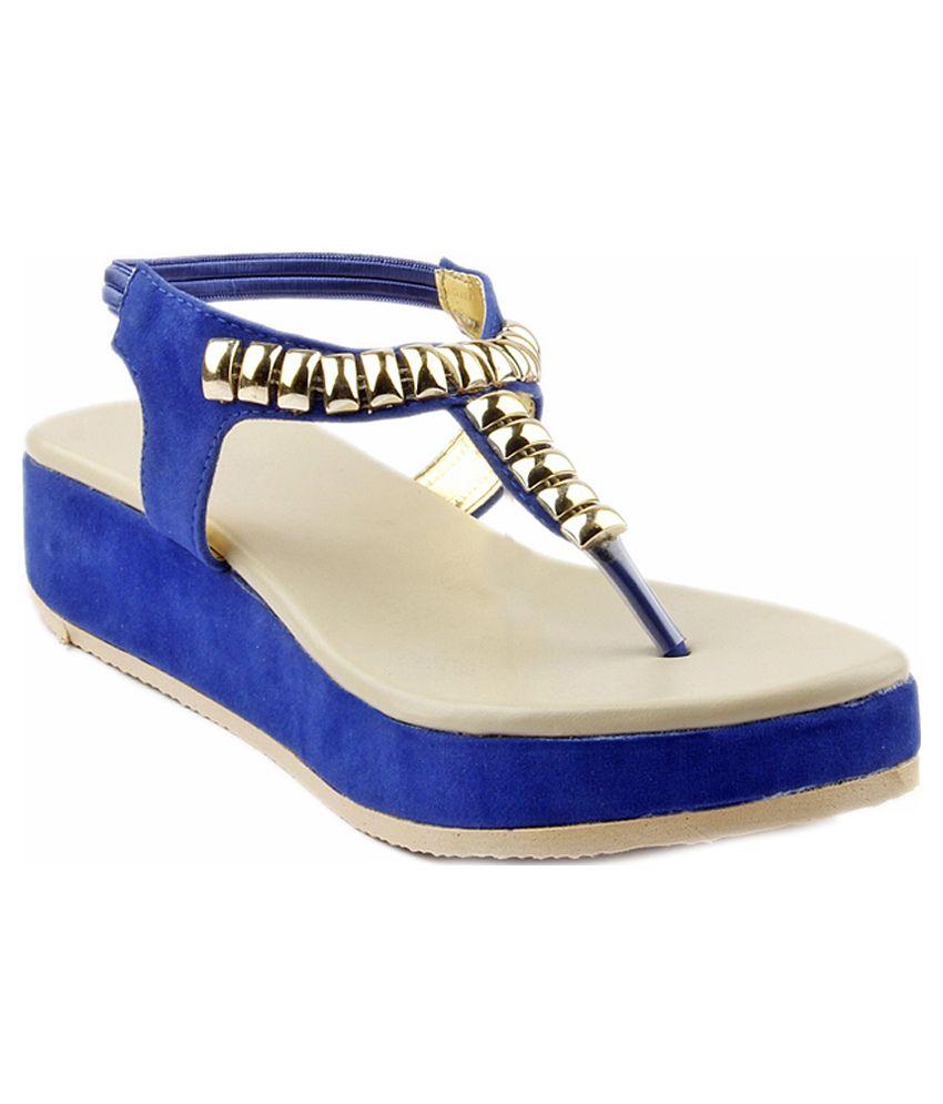 Royal Footwear's Blue Wedge Heels