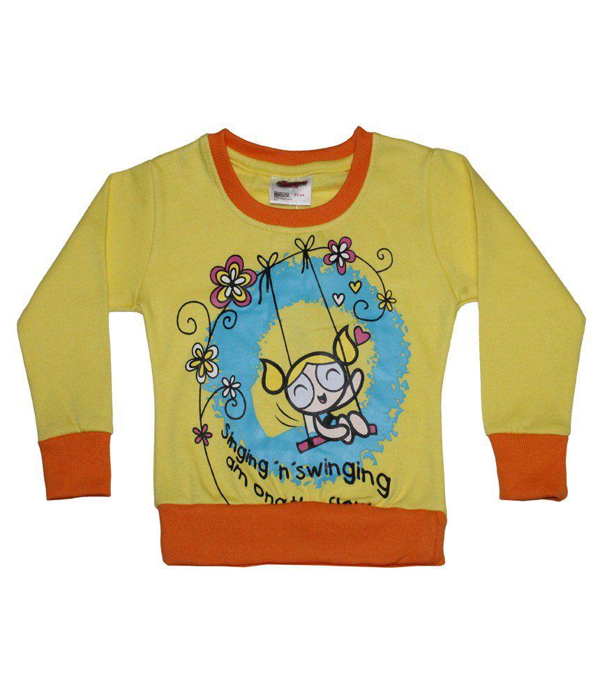 Power Puff Girls Yellow & Orange Full Sleeve Sweatshirt