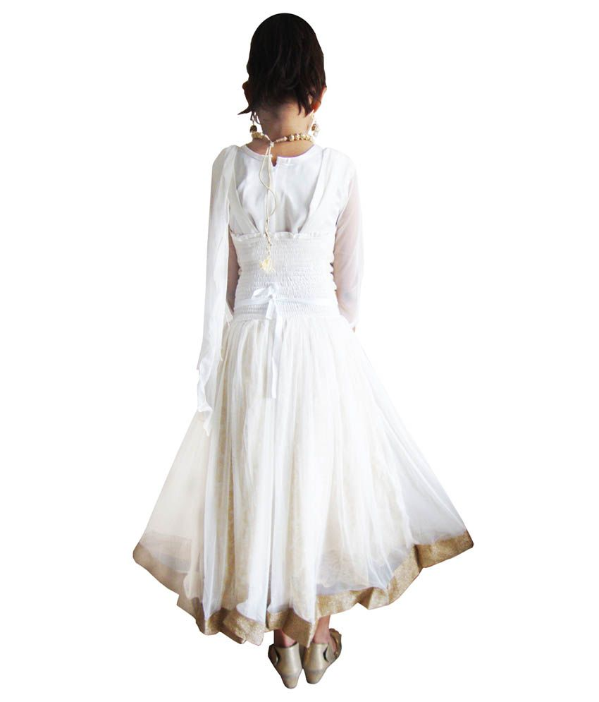 1194a436a78 Fusion India White Frock For Girls - Buy Fusion India White Frock ...