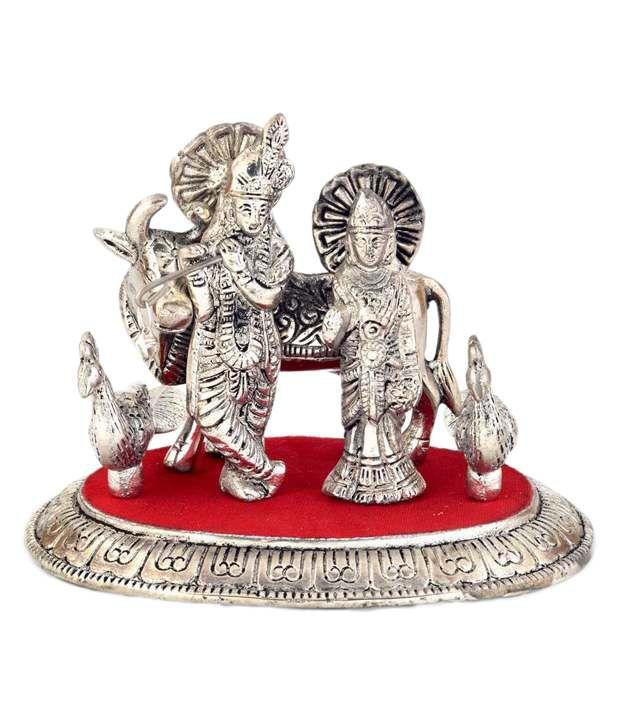 Shreemangalammart Off-White Stainless Steel God Idol