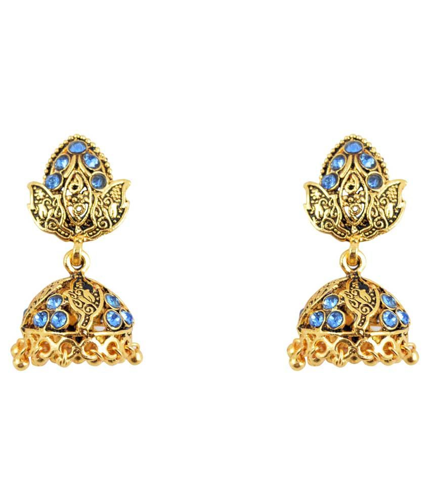 Diovanni Golden Jhumkis