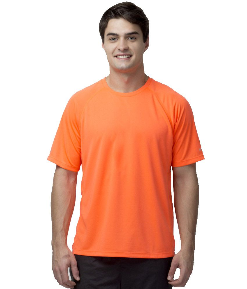 Octive Orange Polyester T Shirt