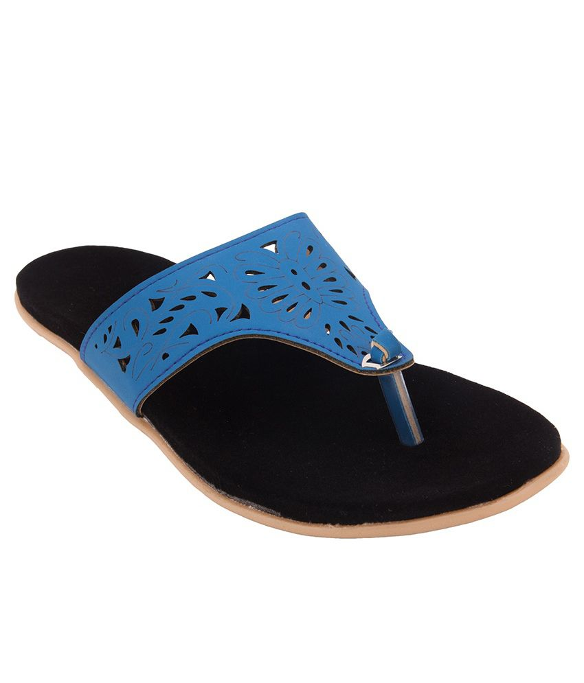 Royal Collection Blue Flat Slip-ons
