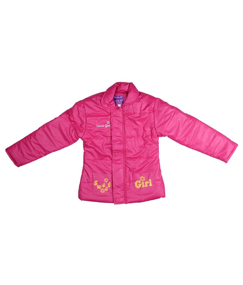 ADI & ADI Pink Padded Jacket Without Hood